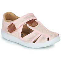Schoenen Meisjes Sandalen / Open schoenen Citrouille et Compagnie GUNCAL Roze / Metaal