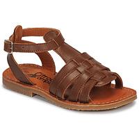 Schoenen Meisjes Sandalen / Open schoenen Citrouille et Compagnie MINIBOU Bruin