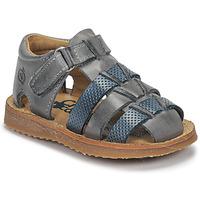 Schoenen Jongens Sandalen / Open schoenen Citrouille et Compagnie MISTIGRI Grijs / Blauw