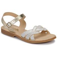 Schoenen Meisjes Sandalen / Open schoenen Citrouille et Compagnie MADELLE Zilver