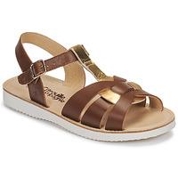 Schoenen Meisjes Sandalen / Open schoenen Citrouille et Compagnie MINOTTE Bruin / Goud