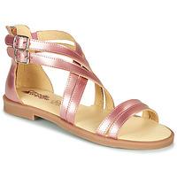Schoenen Meisjes Sandalen / Open schoenen Citrouille et Compagnie IMOURAT Roze / Goud