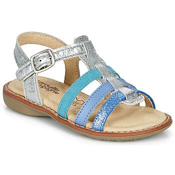 Schoenen Meisjes Sandalen / Open schoenen Citrouille et Compagnie GROUFLA Zilver / Blauw / Vertd'eau