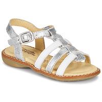 Schoenen Meisjes Sandalen / Open schoenen Citrouille et Compagnie GROUFLA Zilver / Wit