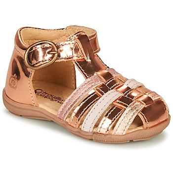 Schoenen Meisjes Sandalen / Open schoenen Citrouille et Compagnie RINE Roze / Metaal
