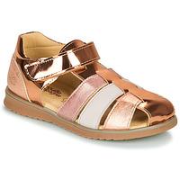 Schoenen Meisjes Sandalen / Open schoenen Citrouille et Compagnie FRINOUI Brons / Roze