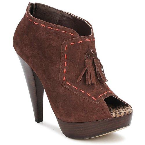 Schoenen Dames Low boots Via Uno KAMILA Bruin