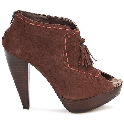 Via Uno KAMILA Bruin - Gratis levering  Schoenen Low boots Dames