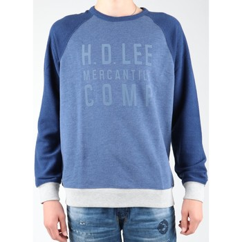 Textiel Heren Fleece Lee Graphic Crew SWS L80ODELR blue