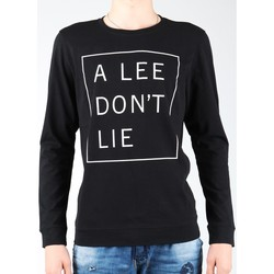 Textiel Heren T-shirts met lange mouwen Lee Don`t Lie Tee LS L65VEQ01 black, white