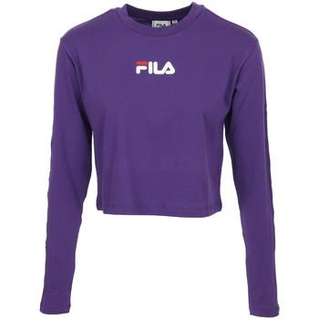 Textiel Dames T-shirts korte mouwen Fila Reva Cropped T-Shirt Violet