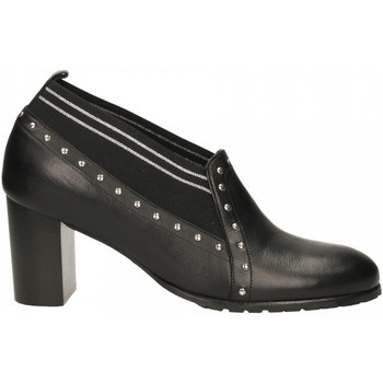 Schoenen Dames Derby Essex VITELLO nero-argento