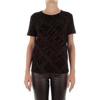 Textiel Dames T-shirts korte mouwen Versace B2HUB728 Nero