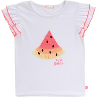 Textiel Meisjes T-shirts korte mouwen Billieblush / Billybandit NARI Wit