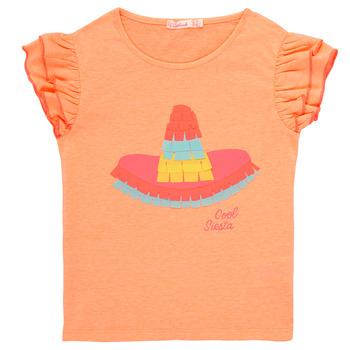 Textiel Meisjes T-shirts korte mouwen Billieblush / Billybandit NORE Oranje