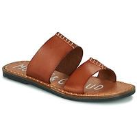 Schoenen Dames Leren slippers Musse & Cloud LESLIE Cognac