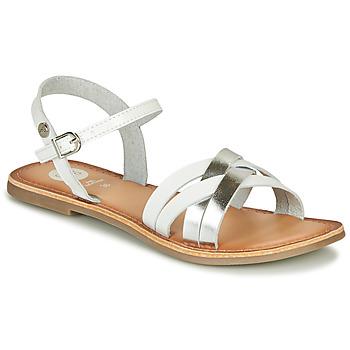 Schoenen Meisjes Sandalen / Open schoenen Gioseppo GISTEL Wit / Zilver