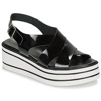Schoenen Dames Sandalen / Open schoenen André ELVIA Zwart