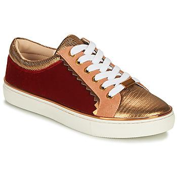 Schoenen Dames Lage sneakers André LA FUNAMBULE Brons