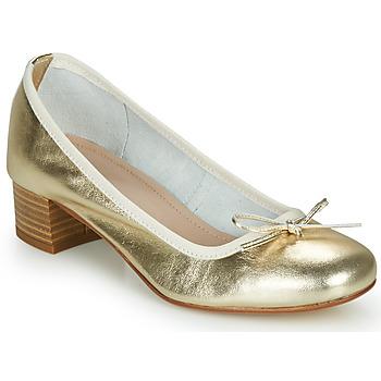 Schoenen Dames Ballerina's André POEME Goud