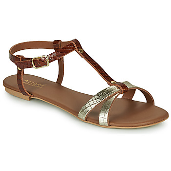 Schoenen Dames Sandalen / Open schoenen André RODHIE Camel