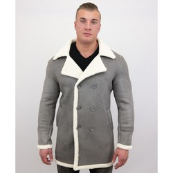 Textiel Heren Mantel jassen Tony Backer Imitatie Bontjas Lang - Lammy Coat - Grijs
