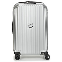 Tassen Valise Rigide Delsey SECURITME ZIP 55 CM 4 DOUBLE WHEELS TROLLEY Zilver