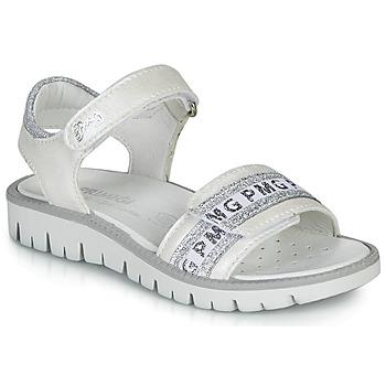 Schoenen Meisjes Sandalen / Open schoenen Primigi  Wit / Zilver