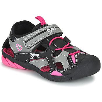 Schoenen Meisjes Outdoorsandalen Primigi 5460011 Zwart / Roze