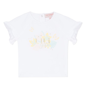 Textiel Meisjes T-shirts korte mouwen Lili Gaufrette NALIS Wit