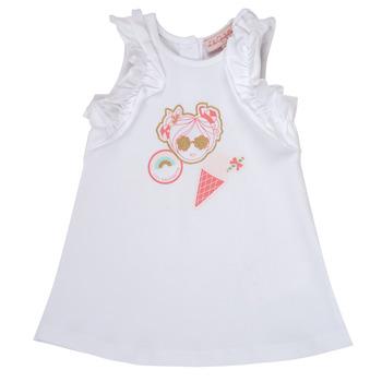 Textiel Meisjes Korte jurken Lili Gaufrette NAVETTE Wit