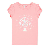 Textiel Meisjes T-shirts korte mouwen Lili Gaufrette KATIA Blush