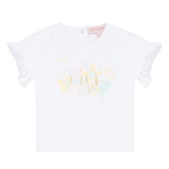Textiel Meisjes T-shirts korte mouwen Lili Gaufrette KERINI Wit