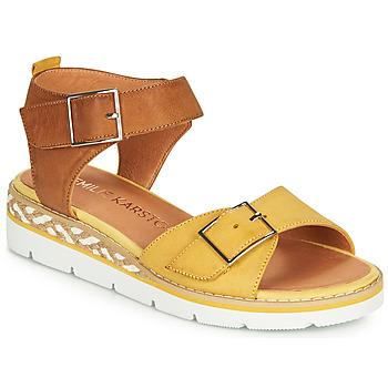 Schoenen Dames Sandalen / Open schoenen Karston KICHOU Geel / Bruin