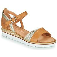 Schoenen Dames Sandalen / Open schoenen Karston KILGUM Bruin / Zilver