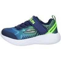Schoenen Kinderen Lage sneakers Skechers 97858N Blue Lime