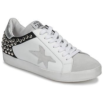 Schoenen Dames Lage sneakers Meline GELLABELLE Wit / Zwart