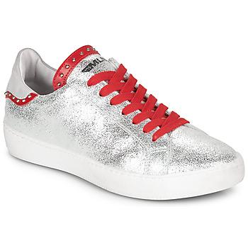 Schoenen Dames Lage sneakers Meline GARILOU Zilver / Rood