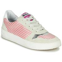 Schoenen Dames Lage sneakers Meline GUILI Beige / Rood