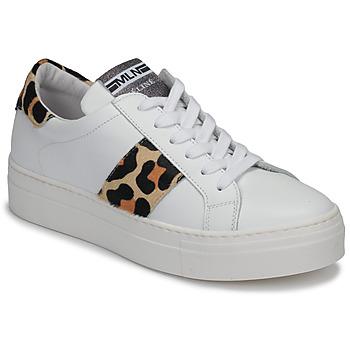 Schoenen Dames Lage sneakers Meline GETSET Wit / Luipaard