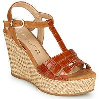 Schoenen Dames Sandalen / Open schoenen Unisa MACA Camel