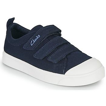 Schoenen Kinderen Lage sneakers Clarks CITY VIBE K Marine