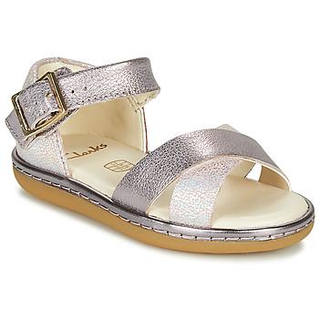 Schoenen Meisjes Sandalen / Open schoenen Clarks SKYLARK PURE T Zilver / Roze
