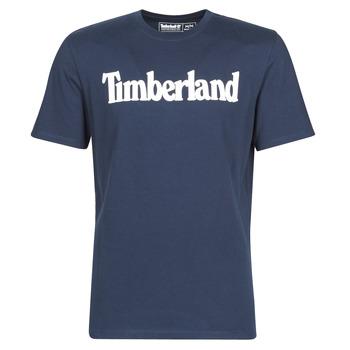 Textiel Heren T-shirts korte mouwen Timberland SS KENNEBEC RIVER BRAND LINEAR TEE Marine