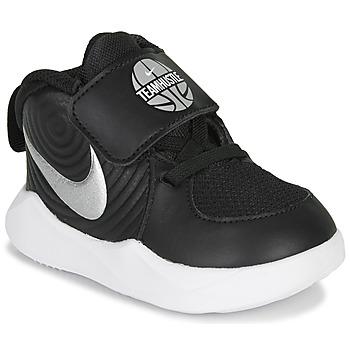 Schoenen Jongens Basketbal Nike TEAM HUSTLE D 9 TD Zwart / Zilver