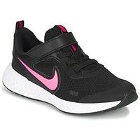 Schoenen Meisjes Allround Nike REVOLUTION 5 PS Zwart / Roze