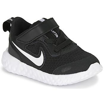 Schoenen Kinderen Lage sneakers Nike REVOLUTION 5 TD Zwart / Wit