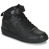 Schoenen Kinderen Hoge sneakers Nike COURT BOROUGH MID 2 GS Zwart