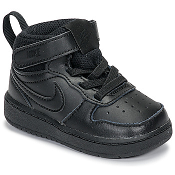 Schoenen Kinderen Lage sneakers Nike COURT BOROUGH MID 2 TD Zwart