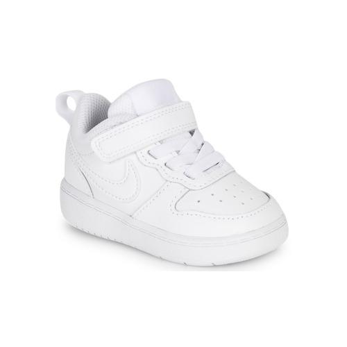 Schoenen Kinderen Lage sneakers Nike COURT BOROUGH LOW 2 TD Wit